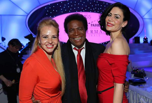 Roberto Blanco und seine neue Frau Luzandra bei Miss Germany 2014