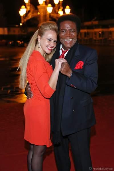 Roberto Blanco und seine neue Frau Luzandra Strassburg bei Miss Germany 2014