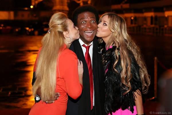 Roberto Blanco und seine neue Frau Luzandra und Loona bei Miss Germany 2014