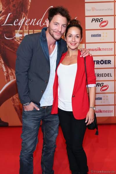 Dirk Moritz und seine Freundin Renee Weibel beim PRG LEA 2014 - Live Entertainment Award