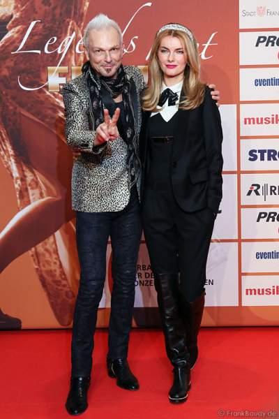 Rudolf Schenker Freundin Tatyana Sazonova  beim PRG LEA 2014 - Live Entertainment Award