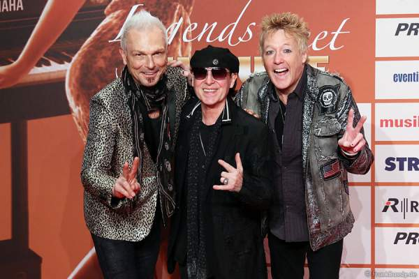 Rudolf Schenker, Klaus Meine - The Scorpions beim PRG LEA 2014 - Live Entertainment Award