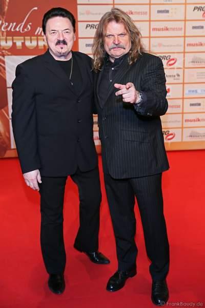 Bobby Kimball und Leslie Mandoki beim PRG LEA 2014 - Live Entertainment Award