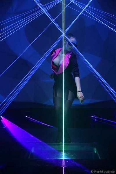 A05_Lasershow der Firma Kvant mit Laser Cabaret auf der Prolight + Sound 2014