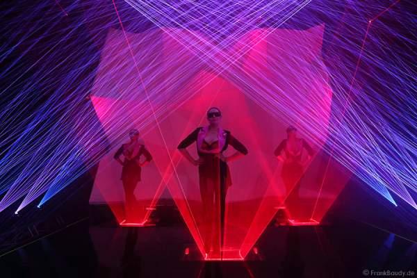 A08_Lasershow der Firma Kvant mit Laser Cabaret auf der Prolight + Sound 2014