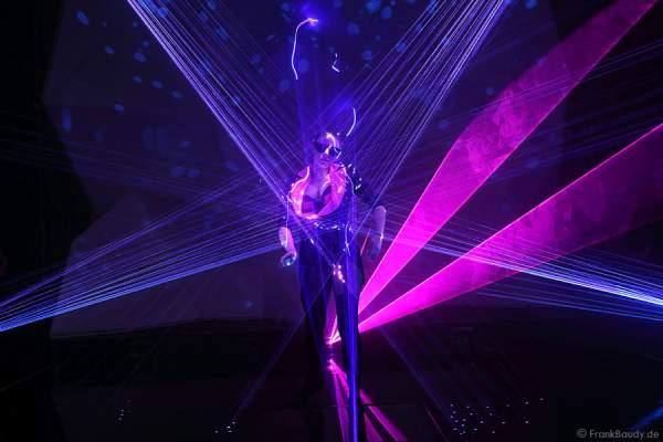 A09_Lasershow der Firma Kvant auf der Prolight + Sound 2014