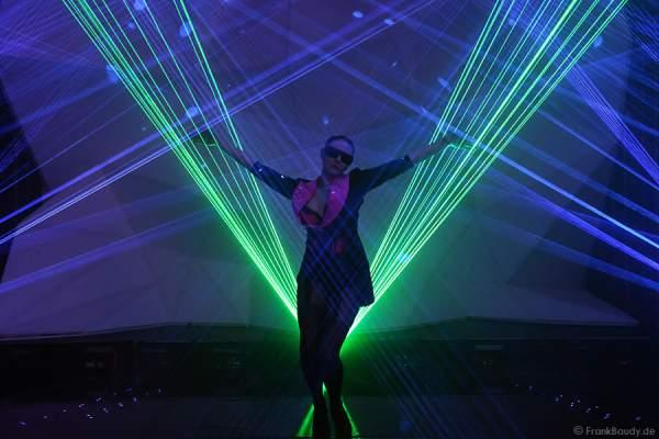 A13_Lasershow der Firma Kvant auf der Prolight + Sound 2014