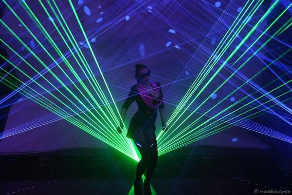 A15_Lasershow der Firma Kvant auf der Prolight + Sound 2014