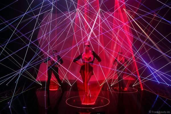 A22_Lasershow der Firma Kvant auf der Prolight + Sound 2014