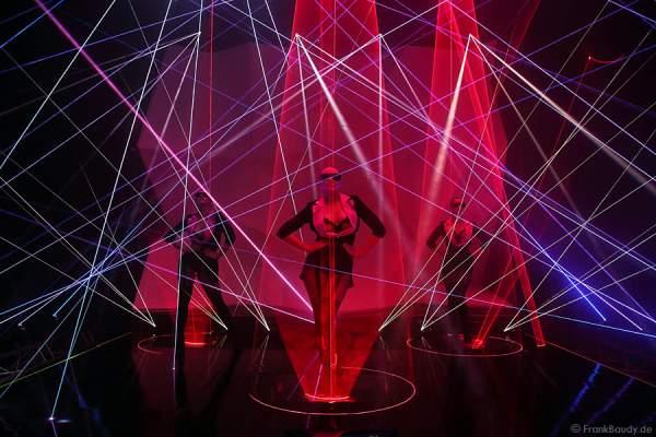 A23_Lasershow der Firma Kvant auf der Prolight + Sound 2014