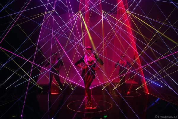 A24_Lasershow der Firma Kvant auf der Prolight + Sound 2014