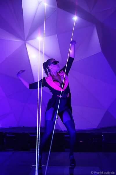 A33_Lasershow der Firma Kvant auf der Prolight + Sound 2014