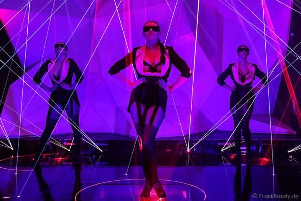 A40_Lasershow der Firma Kvant auf der Prolight + Sound 2014