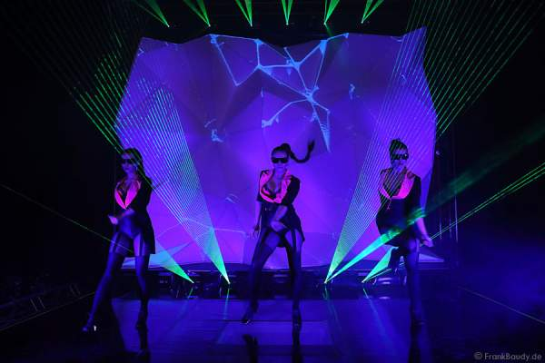 A43_Lasershow der Firma Kvant auf der Prolight + Sound 2014
