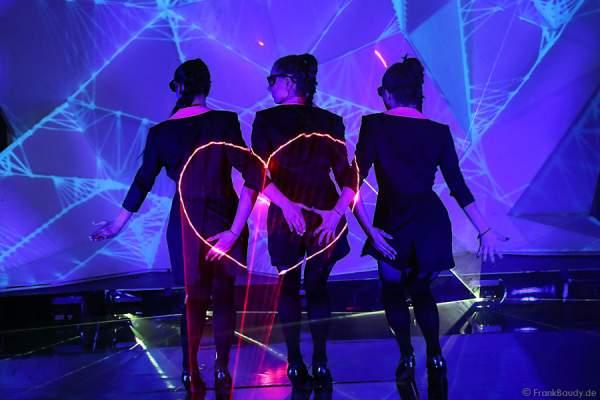 A44_Lasershow der Firma Kvant auf der Prolight + Sound 2014