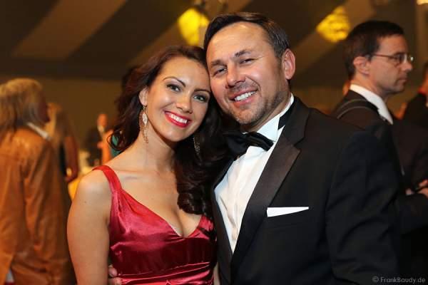 Dr. Jos Gal mit Ehefrau Timea Csata beim Radio Regenbogen Award 2014 im Europa-Park