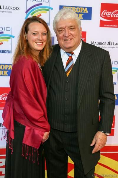 Hans Meiser und seine Tochter Anouk Meiser beim Radio Regenbogen Award 2014 im Europa-Park