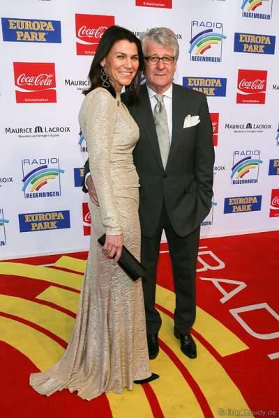 Marcel Reif mit seiner Frau Marion Kiechle beim Radio Regenbogen Award 2014 im Europa-Park