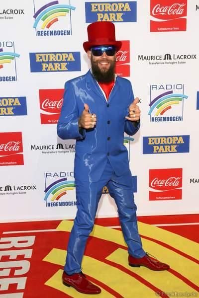 Dino Sadino  beim Radio Regenbogen Award 2014 im Europa-Park