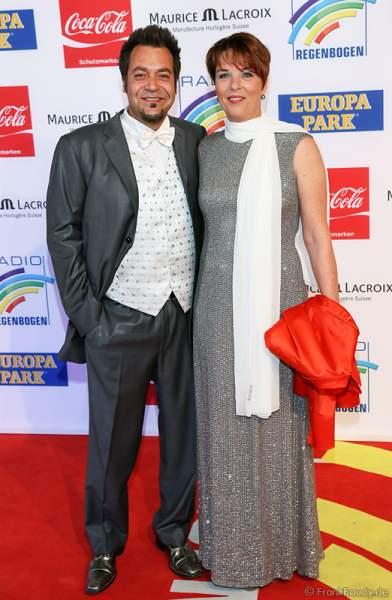 Laith Al-Deen mit seiner Frau Melanie beim Radio Regenbogen Award 2014 im Europa-Park