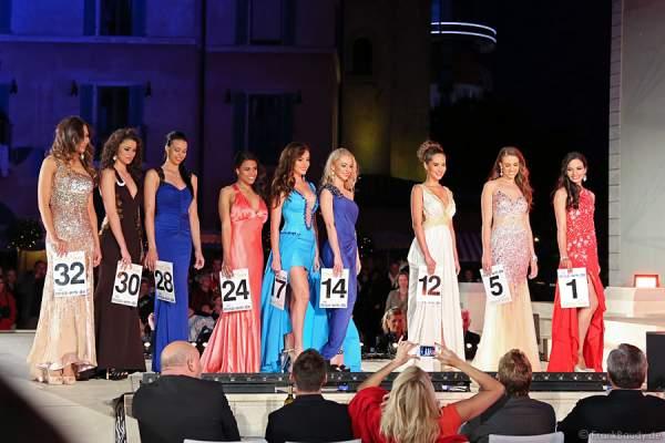 Das Finale der Miss WM 2014 Wahl im Innenhof/Piazza des Hotels Colosseo - Europa-Park Rust
