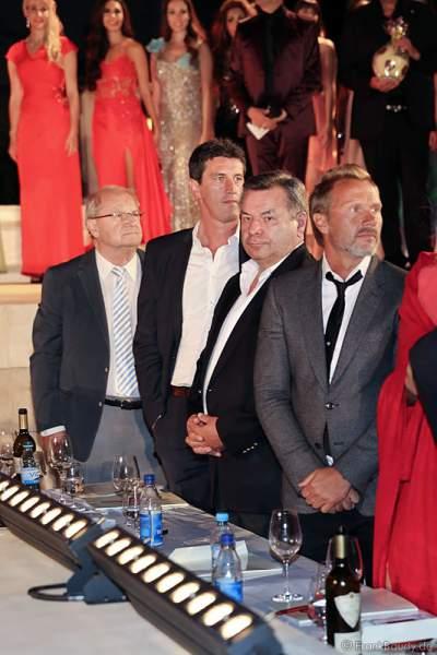 Waldemar Hartmann in der VIP-Jury bei der Miss WM 2014 Wahl im Europa-Park Rust