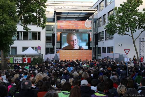 Sinja Dieks bei Tatort BLACKOUT Premiere beim SWR Sommerfestival 2014 Mainz