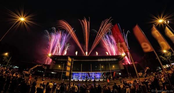Imposantes Feuerwerk zum Abschied der Rhein-Main-Hallen