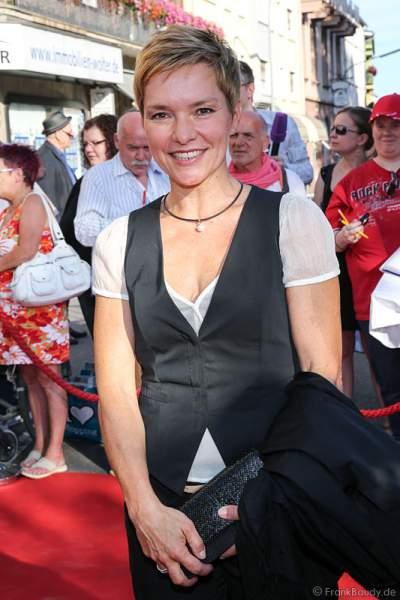 Evelin Koenig auf dem roten Teppich der Nibelungen-Festspiele 2014, born this way