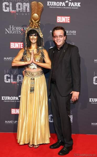 Michael Mack und Frau Miriam Mack bei der Horror Glam Night 2014 im Europa-Park