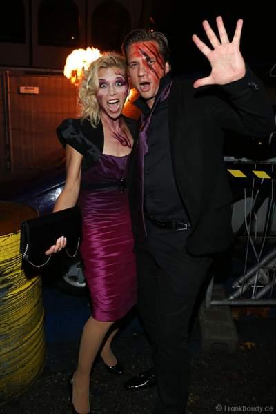 Tanja Szewczenko und Freund Norman Jeschke bei der Horror Glam Night 2014