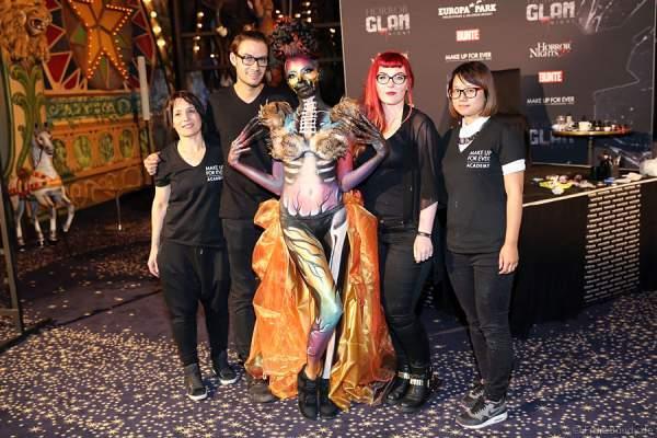 Team von Make Up For Ever bei der Horror Glam Night 2014