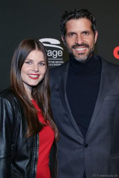 Schauspieler Pasquale Aleardi mit seiner Freundin Petra