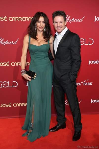 Felix Baumgärtner und Mihaela Radulescu (Micaela Schwarzenberger) bei der Carreras Gala am 18.12.2014 im Europa-Park in Rust