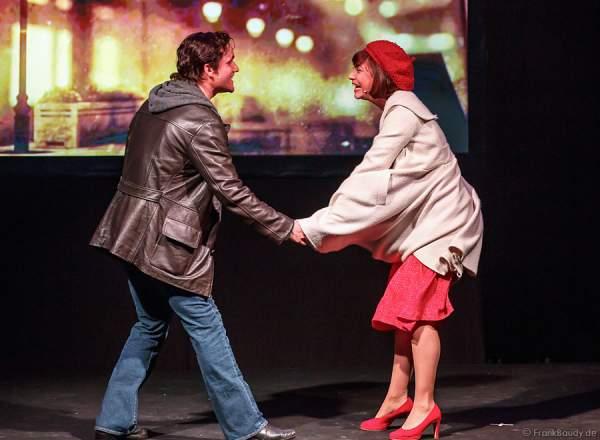 Nikolas Heiber (Rocky Balboa) und Wietske van Tongeren (Adrian), die Hamburger Musical Darsteller von ROCKY