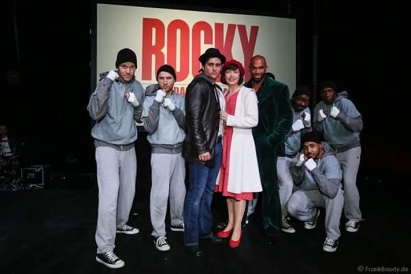 Die Darsteller von ROCKY bei der Vorstellung des neuen Musicals in Stuttgart