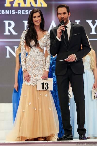 3. Miss Germany 2015 - Lisa Wargulski - beim Interview mit Alexander Mazza
