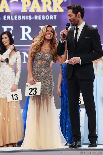 Vize-Miss Germany 2015 - Julia Kraml - beim Interview mit Alexander Mazza