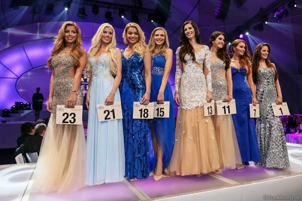 Die 8 Finalistinnen beim Miss Germany 2015 Finale