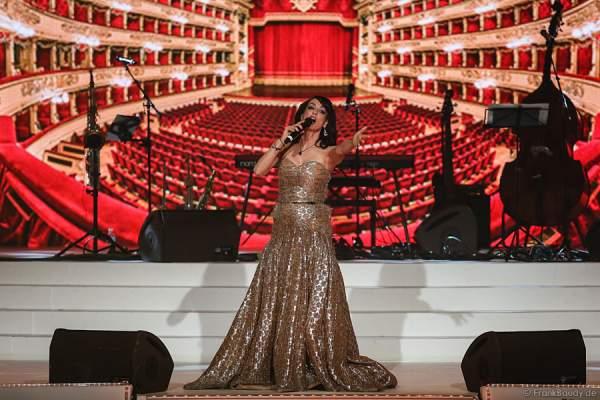 Anna Maria Kaufmann bei der Wahl der Miss Germany 2015 im Europa-Park