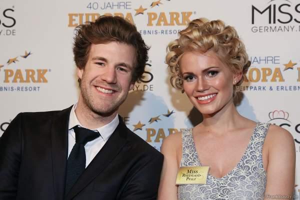 Luke Mockridge und Johanna Orthey, Miss Rheinland-Pfalz 2015, Backstage beim Miss Germany 2015 Finale
