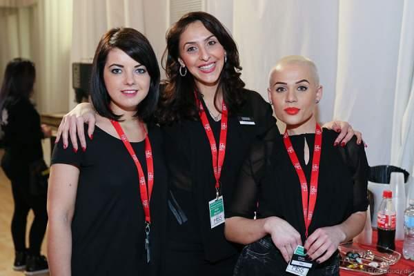 Francek Friseure Makeup Artist mit Ana Rosescu(kiva), Backstage beim Miss Germany 2015 Finale