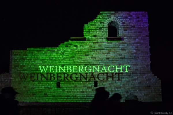 Videoanimation an der Römervilla Weilberg bei der Weinbergnacht in Bad Dürkheim 2015