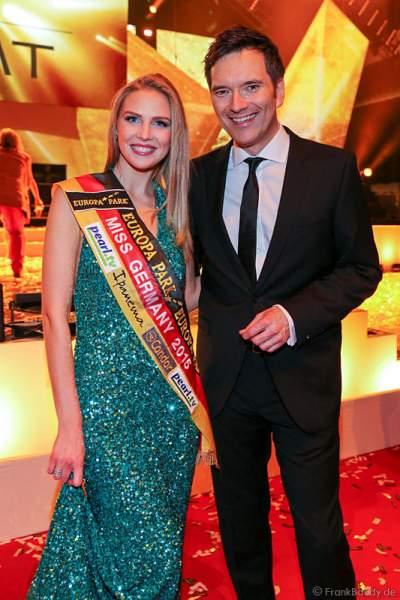 MISS Germany 2015 Olga Hoffmann und Ingo (Nikolaus Reinhard Werner) Nommsen beim PRG LEA - Live Entertainment Award 2015 (LEA Award)