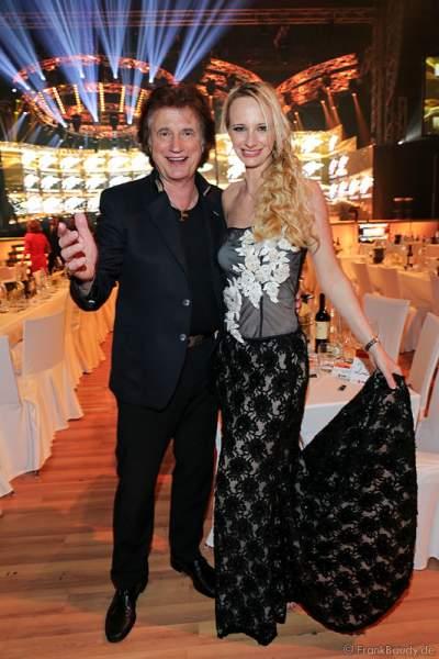 Olaf Malolepski, ex Flippers Sänger mit Tochter Pia Malolepski beim Radio Regenbogen Award 2015