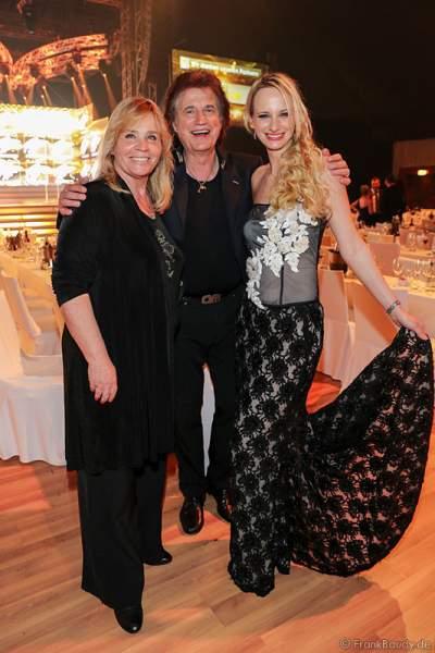 Olaf Malolepski, ex Flippers Sänger mit Ehefrau Sonja Malolepski und Tochter Pia Malolepski beim Radio Regenbogen Award 2015