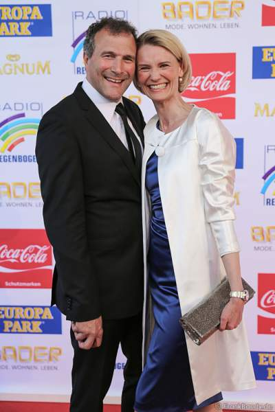 Alexander Hold und seine Frau Michaela beim Radio Regenbogen Award 2015 im Europa-Park
