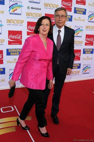 Wolfgang Clement und Ehefrau Karin Clement beim Radio Regenbogen Award 2015
