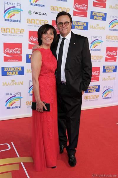 Roland Mack mit Ehefrau Marianne Mack beim Radio Regenbogen Award 2015