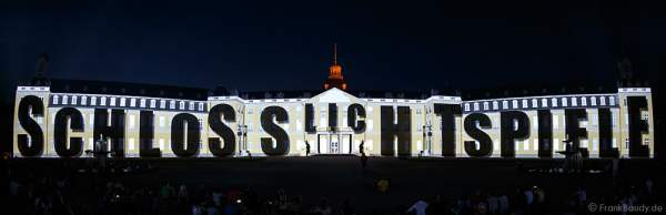 Schlosslichtspiele 300 Jahre Stadtgeburtstag Karlsruhe 2015
